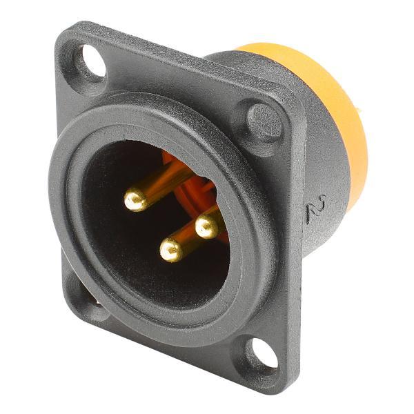 HICON XLR, wasserdicht und staubgeschützt IP54 im gesteckten Zustand , 3-pol , Polyamid-Einbaustecke