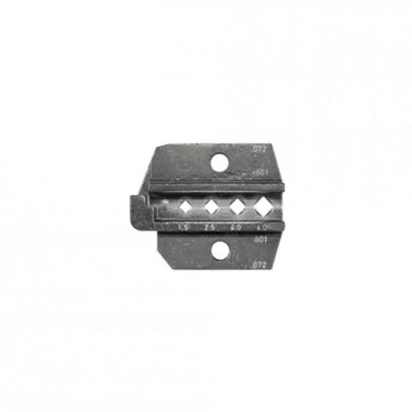 Crimpeinsatz für WCZ1200: gedrehte Kontakte, 4-Eck-Crimpung, rot