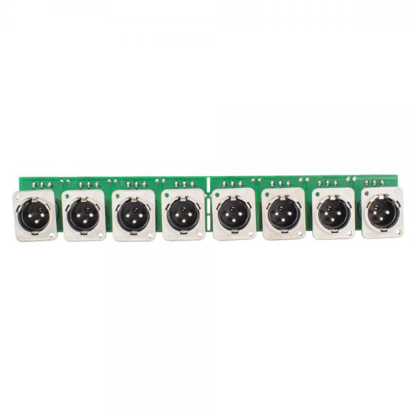 SOMMER CABLE INSTALL-Modul 8 x XLR D-Serie male, Metall-, Steck-Federklemmen 3-fach / Kanal-, versil