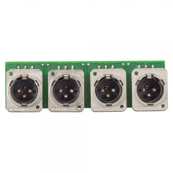 SOMMER CABLE INSTALL-Modul 4 x XLR D-Serie male, 3-pol , Metall-, Steck-Federklemmen 3-fach / Kanal-
