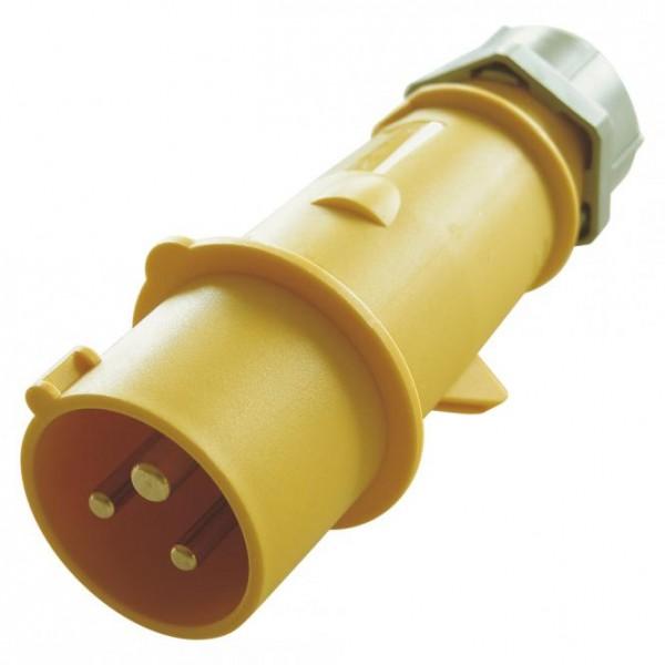 Mennekes CEE, 3-pol , Kunststoff-, Schraubkontakt-Kabelstecker, vernickelte(r) Kontakt(e), gerade, m