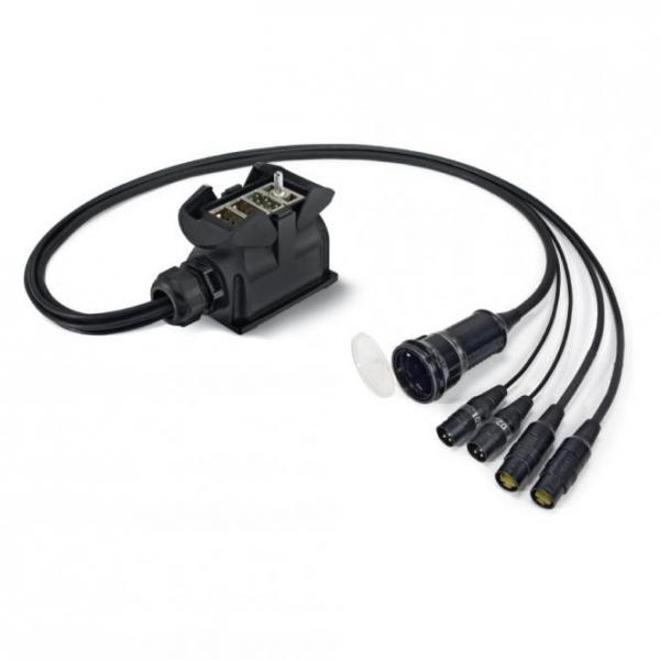Sommer cable Netzwerk- / DMX- & Power- System , Multipin male (HAN-ECO, Anbaugehäuse mit Bügel)/XLR