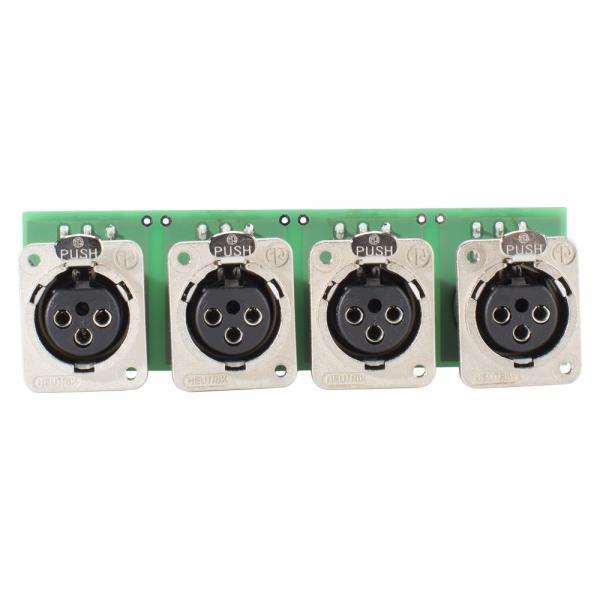 SOMMER CABLE INSTALL-Modul 4 x XLR D-Serie female, 3-pol , Metall-, Steck-Federklemmen 3-fach / Kana