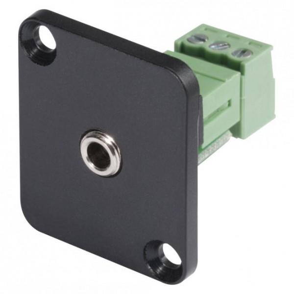 HICON Mini-Klinke (3,5mm), 3-pol , Metall-, Schraubkontakt-Einbaubuchse, vernickelte(r) Kontakt(e),