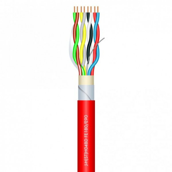 Sommer Cable LOGIC SAFETY02 JE-H(ST)H_BD E90 rot